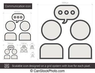 linha, icon., comunicação