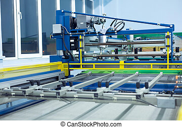 linha, imprimir tela, máquina