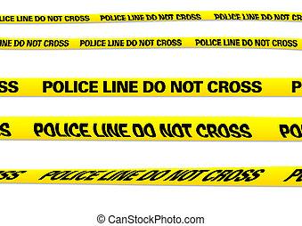 linha, polícia