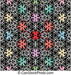 linha, seamless, arte, tracery, pattern., tapeçaria, c, bordado, vindima