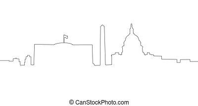 linha, skyline, c.c. washington., continous