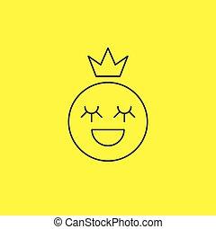 linha, smiley, princesa