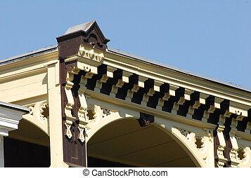 linha, telhado