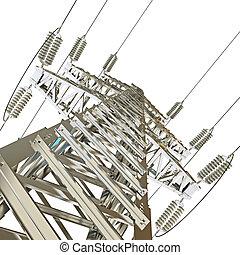 linha transmissão, poder