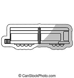 linha trem, corte, locomotiva, transporte
