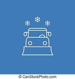 linha, vetorial, snowplow, ícone