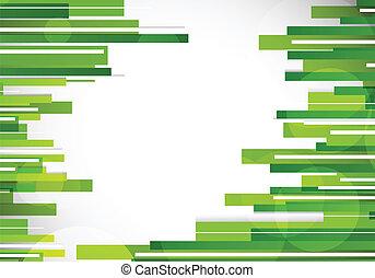 linhas, abstratos, experiência verde
