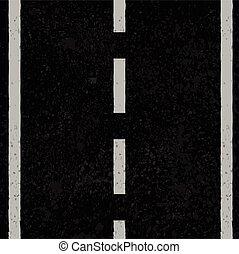 linhas brancas, asfalto