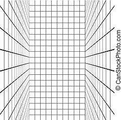 linhas brancas, sala, vertical