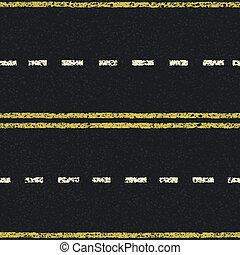 linhas estrada, seamless, padrão, vetorial, eps8