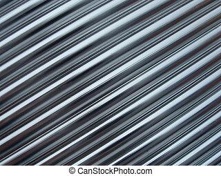 linhas, metálico