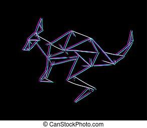 linhas, visual, canguru