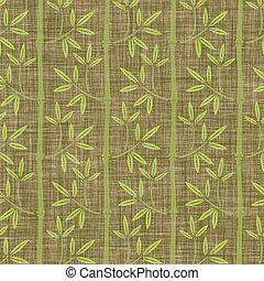 linho, bambu, textura