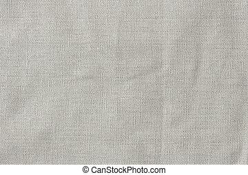 linho, cinzento, tecido, textura, fundo
