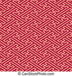 linho, oriental, seamless, padrão
