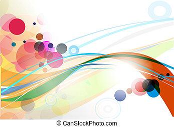 linie, abstrakt, welle