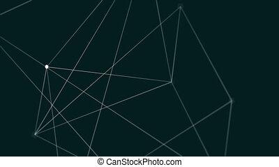 linie, erzeugt, video, digital, geometrisch