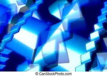 linie, licht, blaues