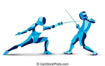 Abbildung Einer Athlet Person Afrikanischen Herkunft Fechten Ideal Für  Kataloge Informativ Und Sportkataloge Stock Vektor Art und mehr Bilder von  Athlet - iStock