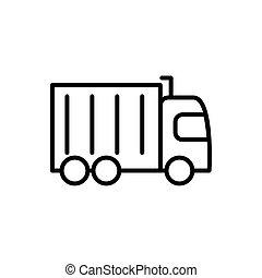 linjär, reklaminslag formge, transport transportera