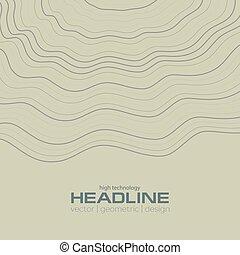 linjer, abstrakt, bølgede, korporativ, baggrund