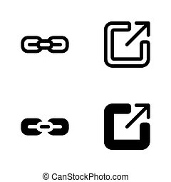 Link and share link icons as user interface