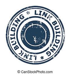 Link Building SEO concept stamp
