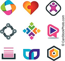 Link connection symbol icons of soc