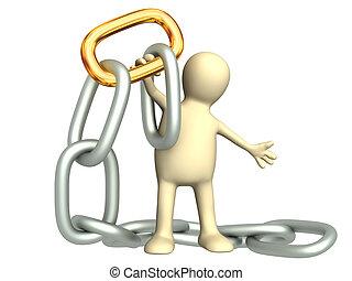 link, corrente ouro