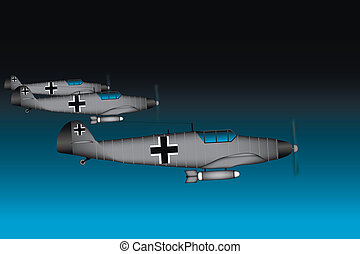 Link fighter-bomber of World War II at night