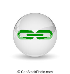 Link icon. Internet button on white background.