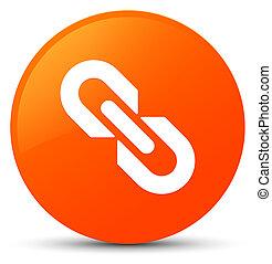 Link icon orange round button