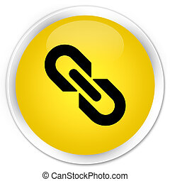 Link icon premium yellow round button
