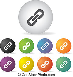 link icon set - vector link button icon set