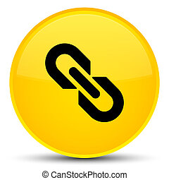 Link icon special yellow round button