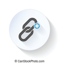 Link optimization flat icon