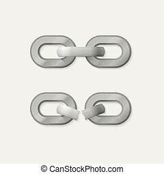 Link set. Metal chain
