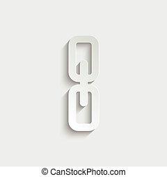 Link, single icon  vector  illustration isolated on white background