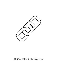 Link Symbol Line Icon Vector flat style