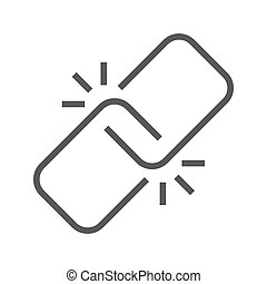 Link Thin Line Vector Icon.