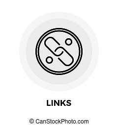 Link vector flat icon