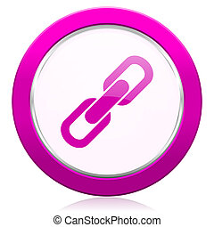 link violet icon chain sign