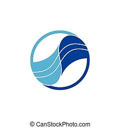 linked blue waves stripes logo