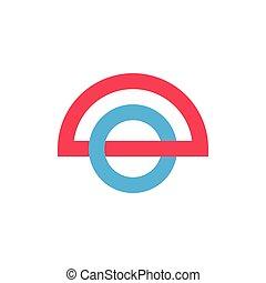 linked colorful circle abstract logo vector