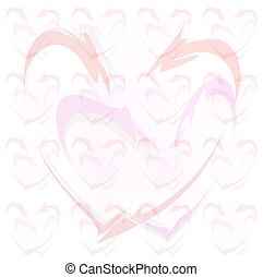 Linked Hearts Background