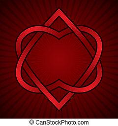 linked., piros, két