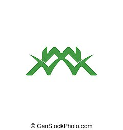 linked roof home check mark symbol logo vector