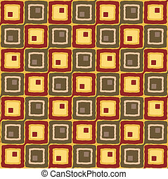 linked squares - Abstract illustration of a seventies style...
