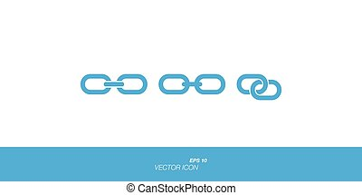 Links icon in flat style isolated on white background.
