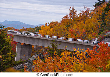 Linn Cove Viaduct, Blue Ridge Parkway, North Carolina - ...